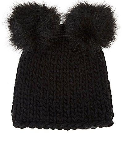 f1158f83208a8 Barneys New York Wool-Blend Double Pom-Pom Hat in 2019