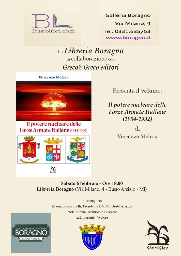 """6.2.2016 - Presentazione del libro """"Il potere nucleare delle Forze Armate Italiane"""" di Vincenzo Meleca"""