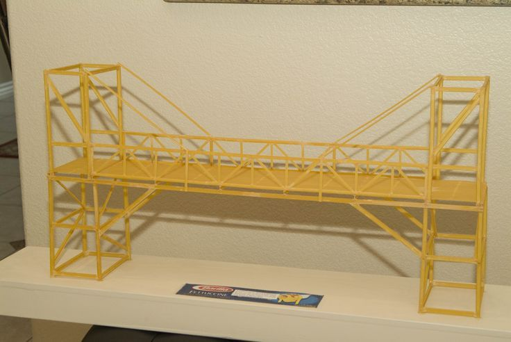 spaghetti bridge | STEM spaghetti bridges | Pinterest