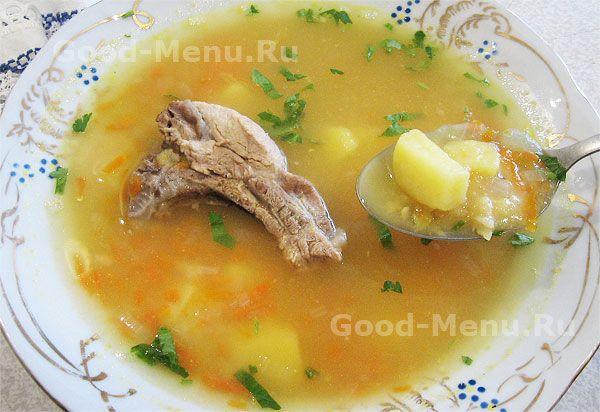 Гороховый суп быстро - рецепт