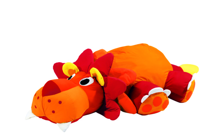"""""""Leo the Lion"""" Giant Floor Cushion from #Wesco. This comfy, multi-textured floor cushion would make a perfect gift for any child!"""