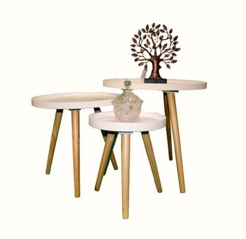 17 Terbaik ide tentang Beistelltisch Rund Holz di Pinterest - beistelltisch für küche