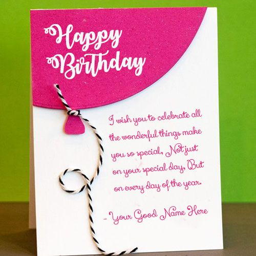Happy Birthday Greeting Card With Name Wishes Edit Download