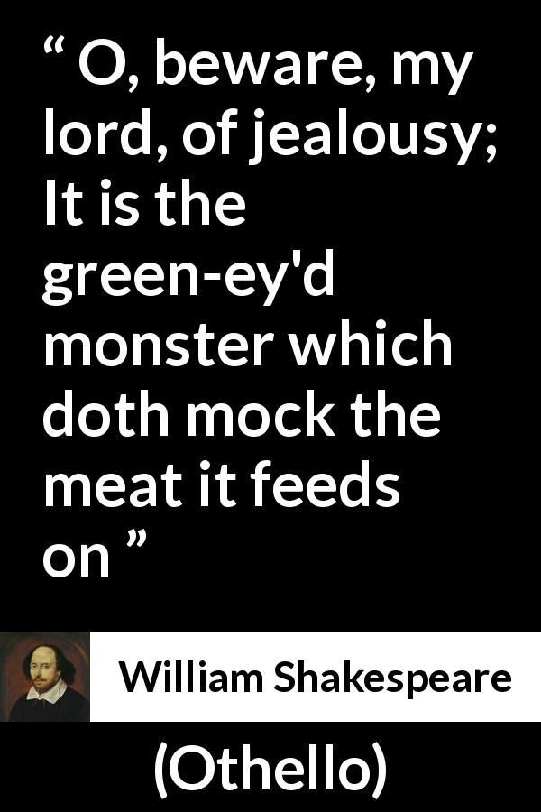 how is jealousy shown in othello