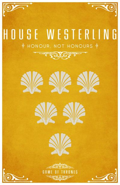 House Westerling. Game of Thrones house sigils by Tom Gateley. http://www.flickr.com/photos/liquidsouldesign/sets/72157627410677518/