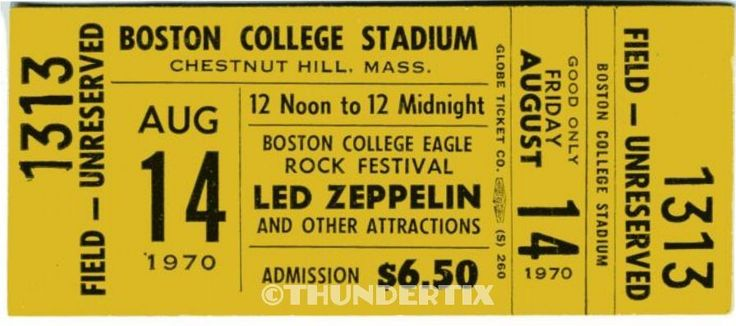 10 1970 80 Led Zeppelin Vintage Unused Full Concert
