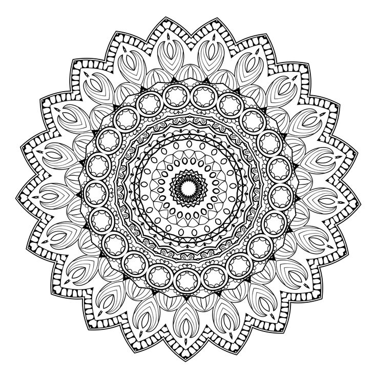 5 free printable coloring pages mandala templates - Advanced Mandala Coloring Pages