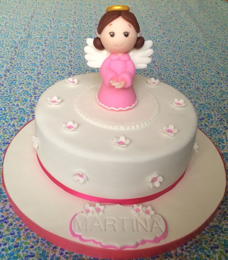#cake #torta #bautizo #bautismo #angelito #angel #nena #libertinacandybar…