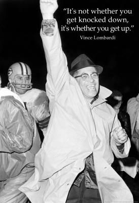 Vince Lombardi Get Back Up Quote Sports Archival Photo Poster