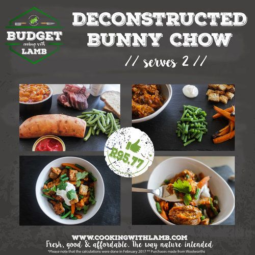 Budget Cooking with Lamb: Deconstructed bunny chow, Proudly South African — Cooking with Lamb