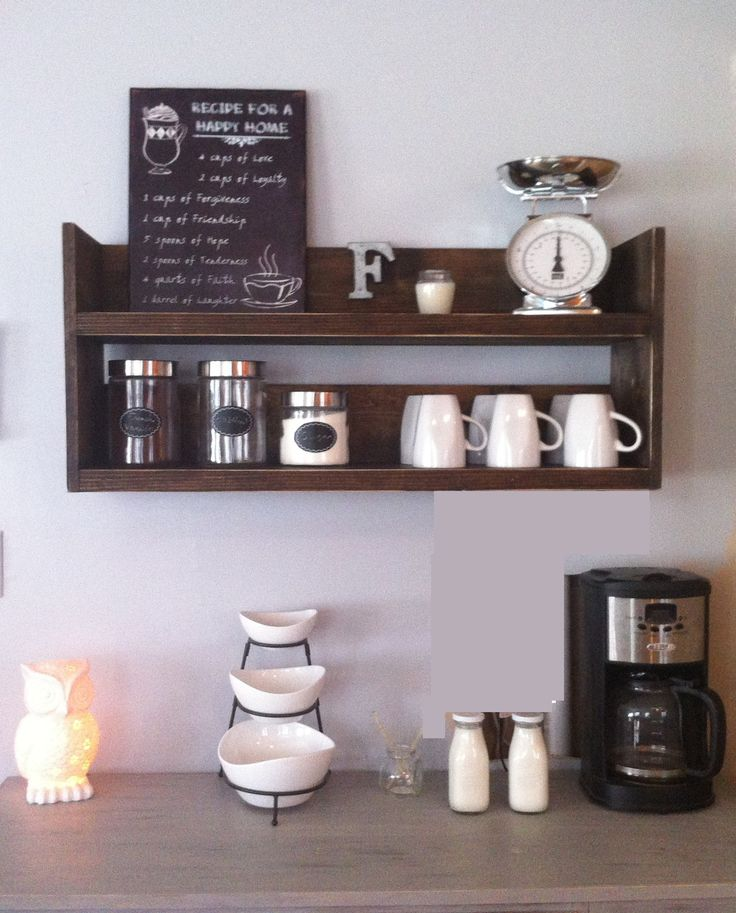 Kitchen Shelf - Great for Coffee/Wine bar