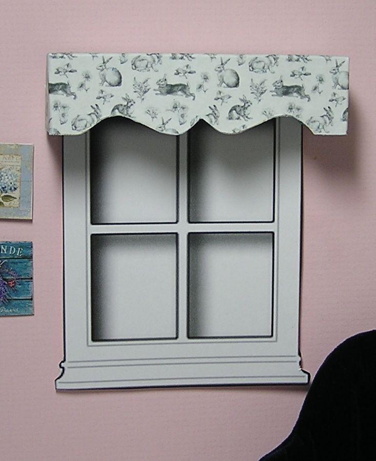 Miniature Dollhouse Furniture Window Cornice Rabbit Toile 1 inch scale    eBay