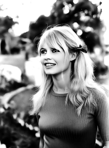 """Brigitte Bardot on location during filming of movie """"Viva Maria"""" 1965. Photographed by Ralph Crane"""