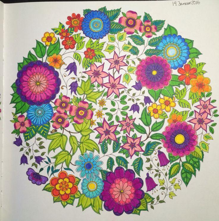 Flower Circle From Johanna Basfords Secret Garden