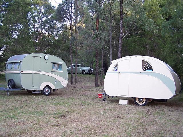 1936 & 1957 caravans
