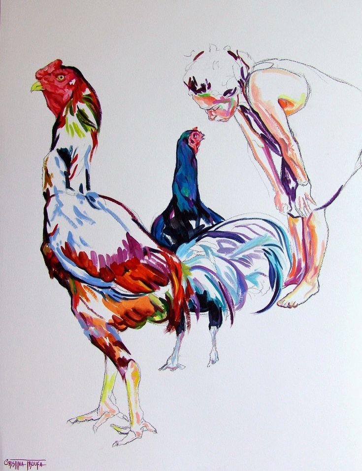 Cristina Troufa - Contemporary Artist - Figurative Painting - Galo #5 - 2014