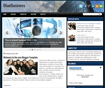 BlueBusiness Blogger Template