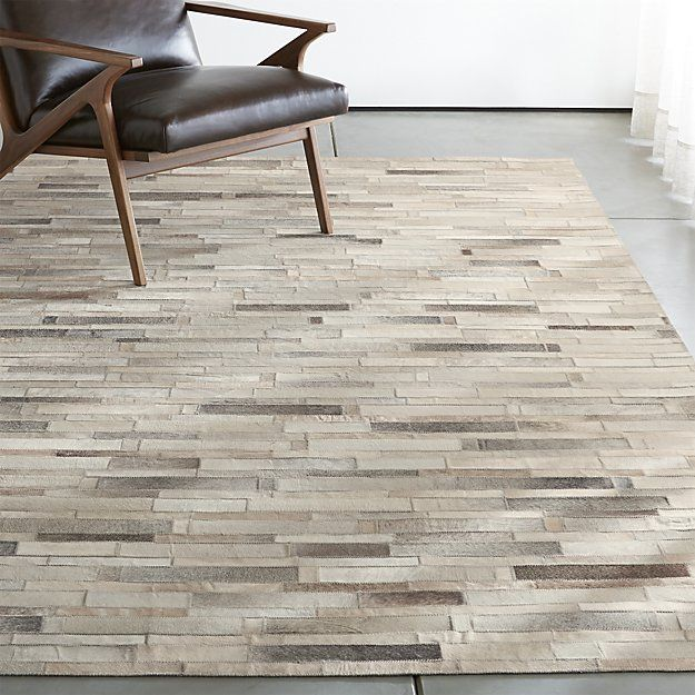 Ewing Striped Cowhide Rug | Crate and Barrel