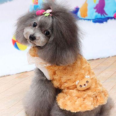 犬服ブランド【PETCO(ペットコ)】 プレシャスバニーワンピース ブラウン 犬の服サイズ(XS〜XL)