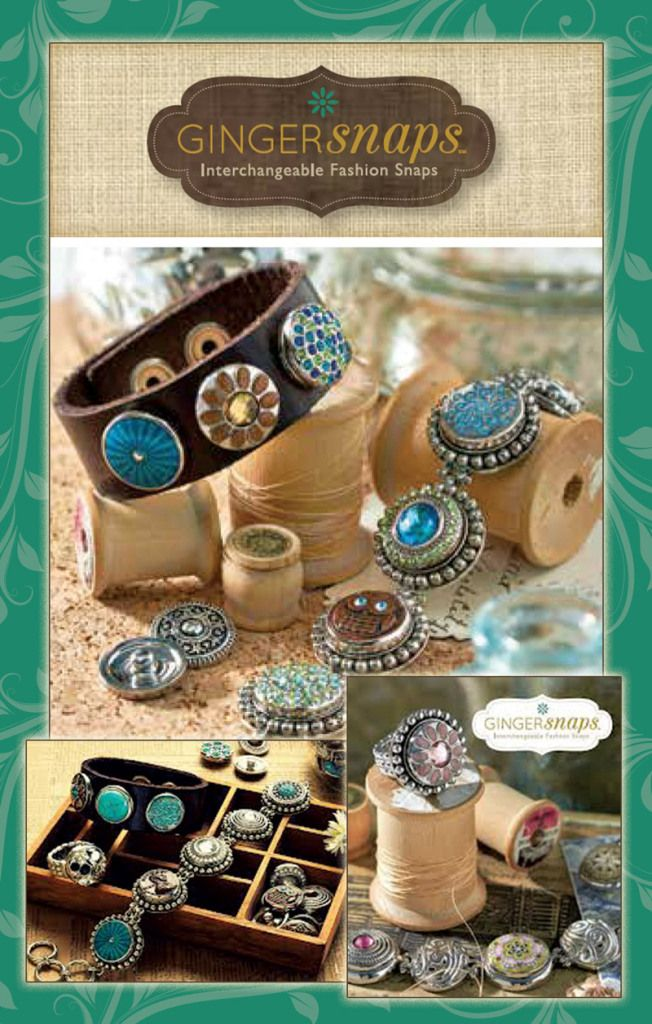 ginger snaps interchangeable button jewelry | and create your new style in a snap with ginger snaps