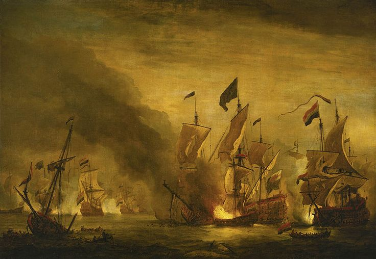 HMS St Andrew at sea in a moderate breeze, painted in 1673