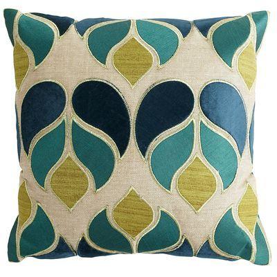Velvet Applique Raindrops Pillow