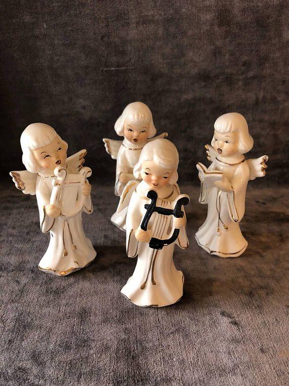 Vintage Japan singing Christmas angel quartet set collection