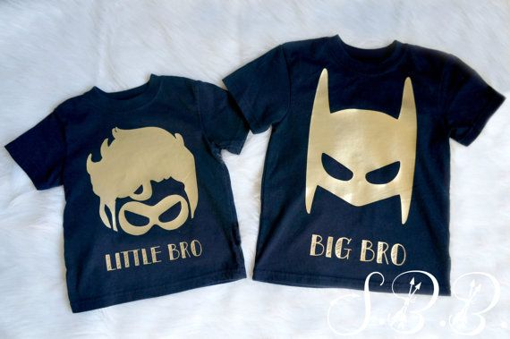 This listing is for a big bro, little bro, batman and robin shirts. -Can be sold…