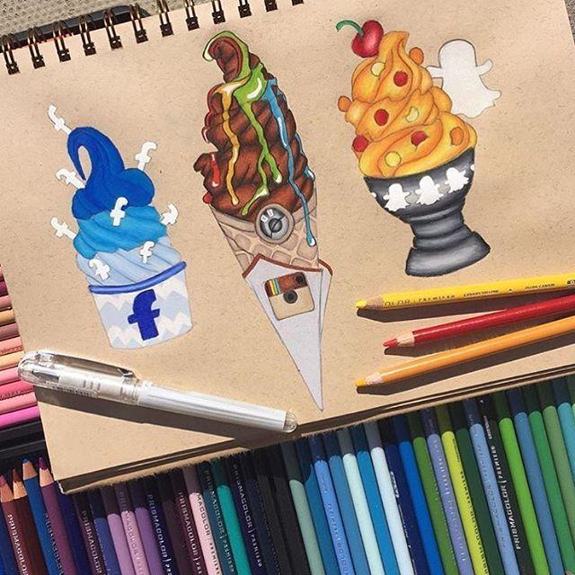 Social Media Desserts! Comment your FAVE down below! By: @_daydream_drawer_ _ Follow us for more!