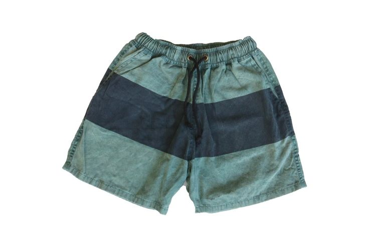 Cafe Racer Khaki Acid Wash Walk Shorts