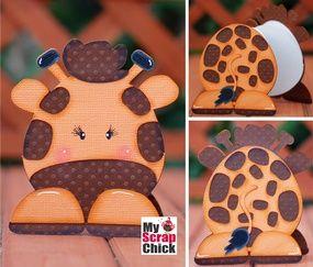 Giraffe Zoo Animal Book: click to enlarge