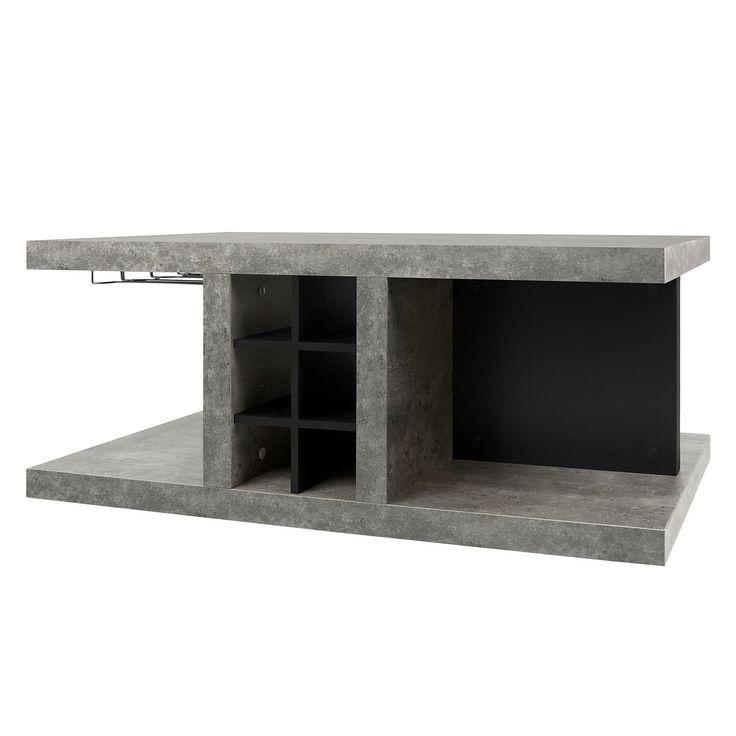 couchtisch detroit ll beton matt schwarz temahome jetzt bestellen unter https moebel. Black Bedroom Furniture Sets. Home Design Ideas