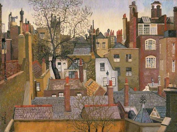 CEDRIC LOCKWOOD MORRIS From a Window at 45 Brook Street, London, W1 (1926)