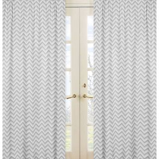 @Overstock.com - Sweet Jojo Designs Grey Chevron Curtain Panels (Set of 2) - Create a comfortable look with these Sweet Jojo Designs window panels. These panels are styled with white and grey zig zags to complete the look and feel of any room.    http://www.overstock.com/Home-Garden/Sweet-Jojo-Designs-Grey-Chevron-Curtain-Panels-Set-of-2/7903402/product.html?CID=214117 $49.99