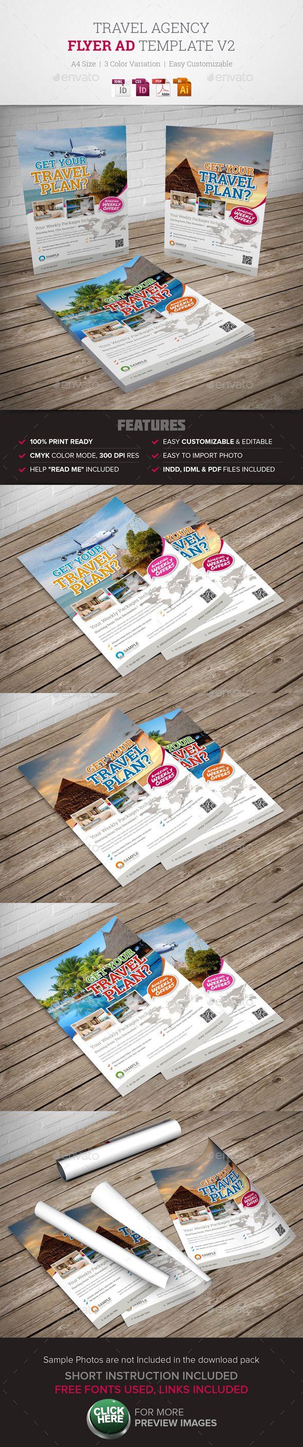 Travel agency flyer ad
