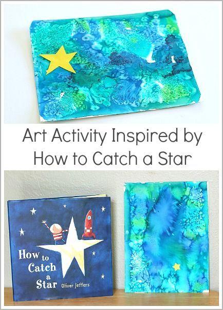 Aquarellkunstaktivität für Kinder, inspiriert durch Wie man einen Stern fängt