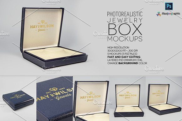 Download Logo On Jewelry Box Mockups V 1 Box Mockup Colorful Backgrounds Change Background