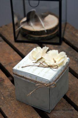 exploding box na 18 urodziny / rustykalny i minimalistyczny exploding box