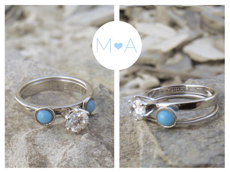Mi anillo de compromiso! #engagament#beautiful#Turquoise#turquesa #wedding#propose