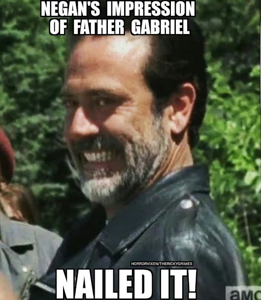 The Walking Dead Season 7 Episode 4 'Service' Negan meme