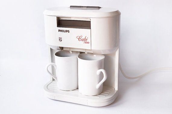 PHILIPS Cafe Duo HD5190 Vintage 1989 Personal Coffee Tea Beverage Maker Espresso Machine 2 Ceramic Mugs Set Coffeemaker Retro 80s Nescafe Espresso 1980s WITH BOX – ETSY RetroSparkShop