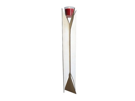 If you like it, buy it! Crolamp is a laser cut wood pedestal candle holde that can accommodate any round or square candle and turn it into a delicate floor lamp.   The dimensions are 160x192x790 m... #wallclock #modernclock #modernmirror #tableclock #homedecor #lighting