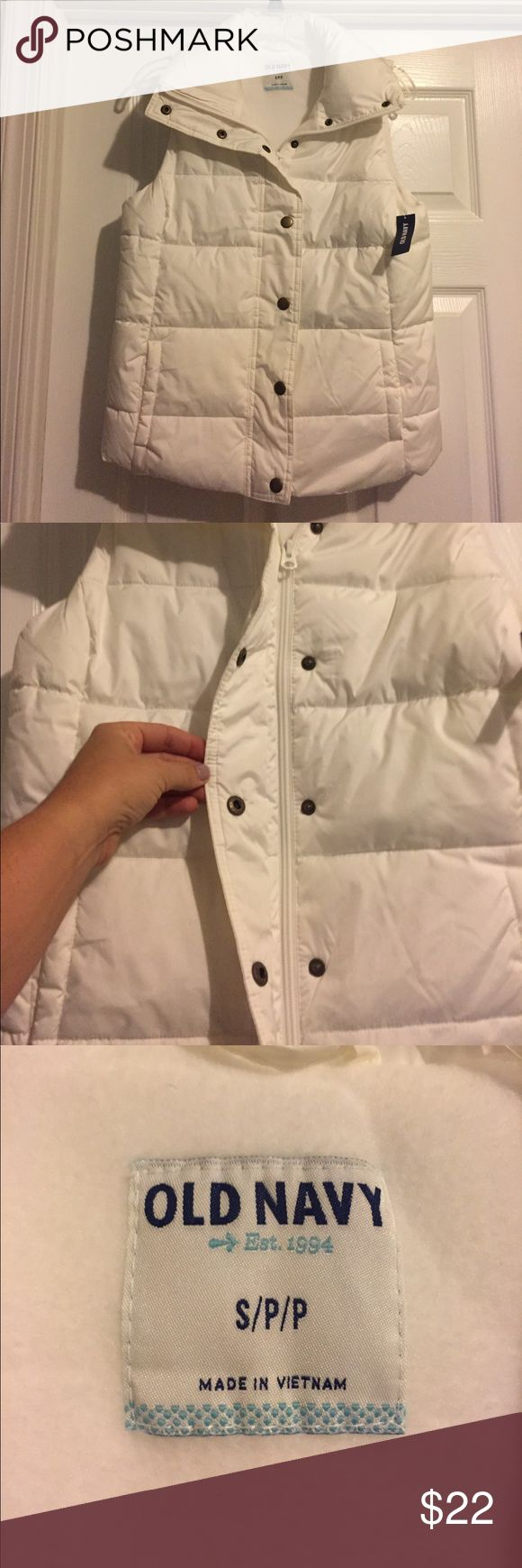 ITEM OF THE DAY! Old Navy winter vest, NWT. S. MARKED DOWN ITEM OF THE DAY! Old Navy winter vest, zipper and snap buttons. NWT. S. Old Navy Jackets & Coats Vests