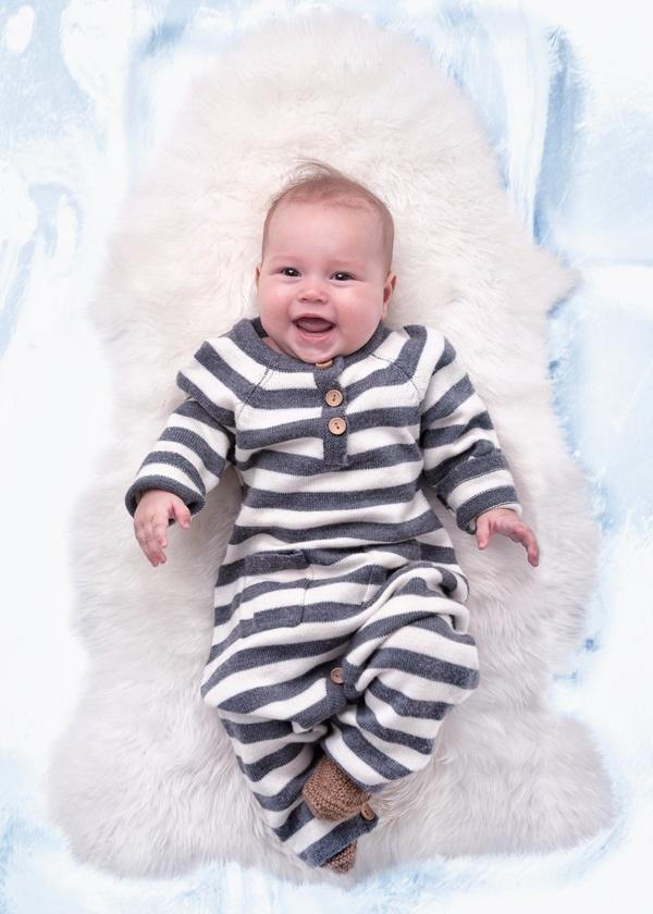 Alv stripe babysuit <3 Copyright: Mole-Little Norway   Photo: Geir Øyvind Gismervik