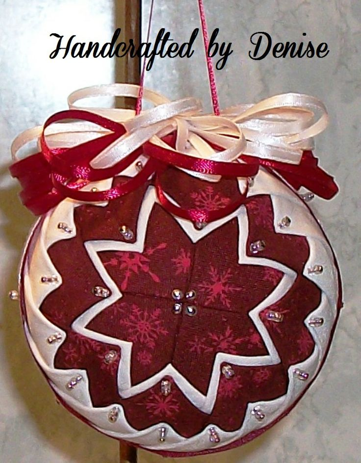 Christmas Tree Ornaments Quilted : Ideas about folded fabric ornaments on
