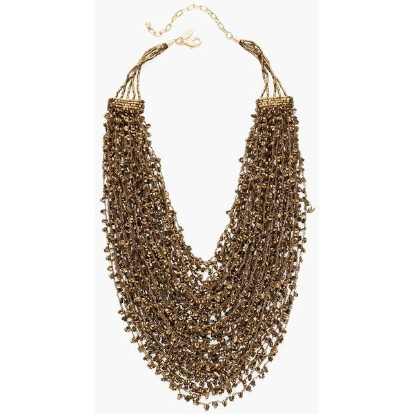 Chico's Rosabel Statement Necklace (1 295 ZAR) ❤ liked on Polyvore featuring jewelry, necklaces, bronze, double layer necklace, layered jewelry, layered necklace, chicos jewelry and chicos necklaces