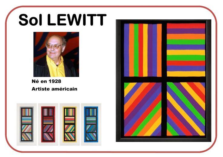 L'année dernière, une collègue de PS avait travaillé les lignes verticales et horizontales en s'inspirant de Sol Lewitt.   Je vais lui em...