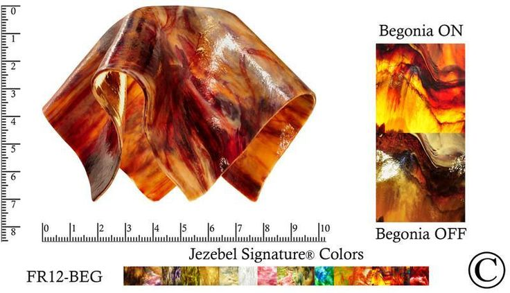 """Jezebel Signature® Small Flame Begonia Glass Pendant Replacement Glass Shade, 1 5/8"""" hole"""