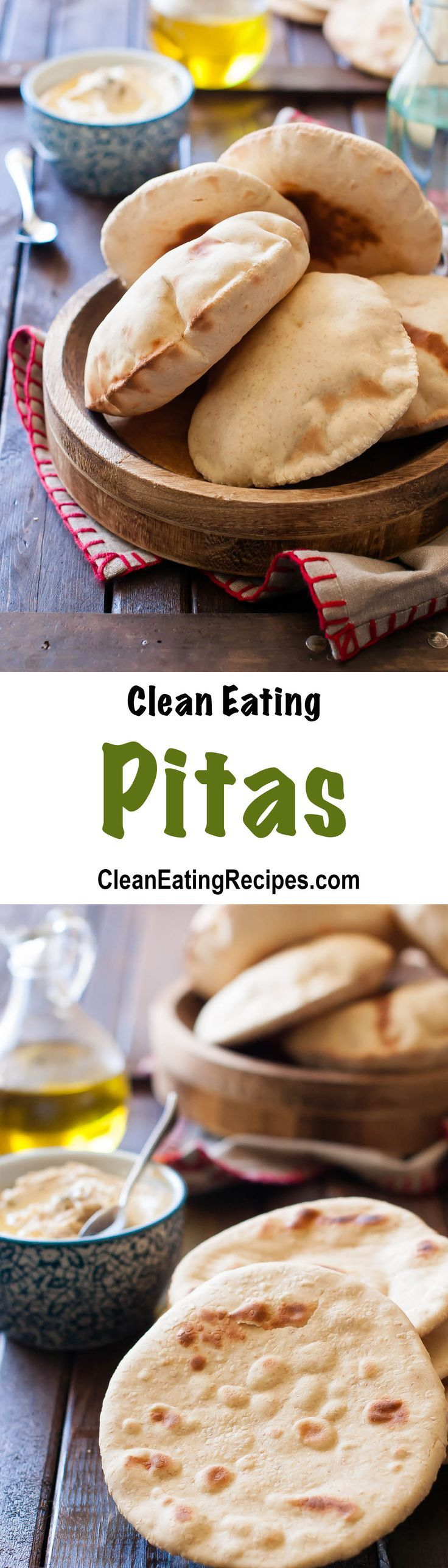 These Clean Eating pitas are a lot easier to make than I thought and are so good. We never have leftovers of them.