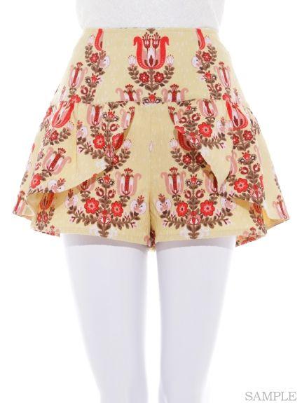 Vintage Desen Kısa pantolon (şort)   Lily Brown (Zambak Brown)   Moda mail order   tavşan çevrimiçi resmi posta siparişi sitesi